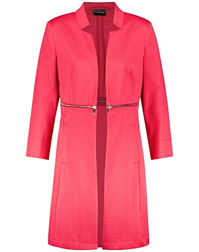 Taifun Damen Longblazer mit Taillen-Zipper tailliert Paradise Pink 44