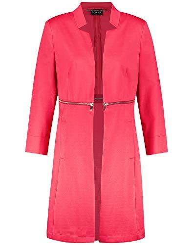 Taifun Damen Longblazer Mit Taillen-Zipper Tailliert Paradise Pink 42