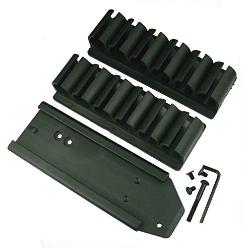Ultimate Arms Gear QD Slide Side Saddle Plate with Pair of 6 Round 12 Gauge Shotshell Shot Shell No Gunsmithing Carrier Mount For The Mossberg 500 & 590 Shotgun