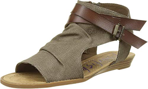 Blowfish Balla - Sandalias Mujer, Marron (Balla Brn RANCHER Canvas), 37
