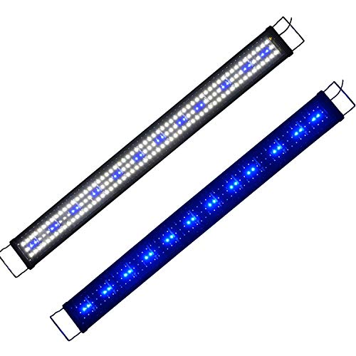 Powerdelux LED Aquarium Beleuchtung, Aquarium LED Lampe mit Mondlicht, LED Licht für Süßwasser-Aquarien (120-150cm)
