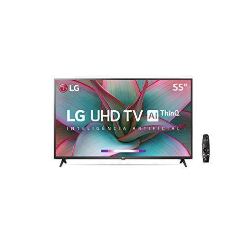 Smart TV 55' 4K LG 55UN7310PSC, UHD, WiFi, Bluetooth, HDR, Inteligência Artificial ThinQAI, Controle Smart Magic, Google e Alexa