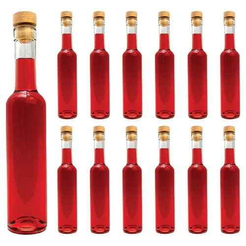 casavetro 6, 12 x 500 ml Futura Bottiglie in Vetro da riempire, 0,5 l, Bottiglie per liquori, Grappa, aceto, Olio (12 x 500 ml)
