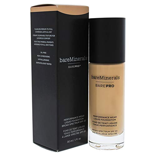 BareMinerals BAREPRO 24-Hour Full Coverage Fondotinta Liquido SPF 20, 11 Natural, 30 ml