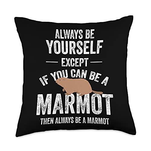 Marmot Gifts Marmot Animal Zookeeper Throw Pillow, 18x18, Multicolor