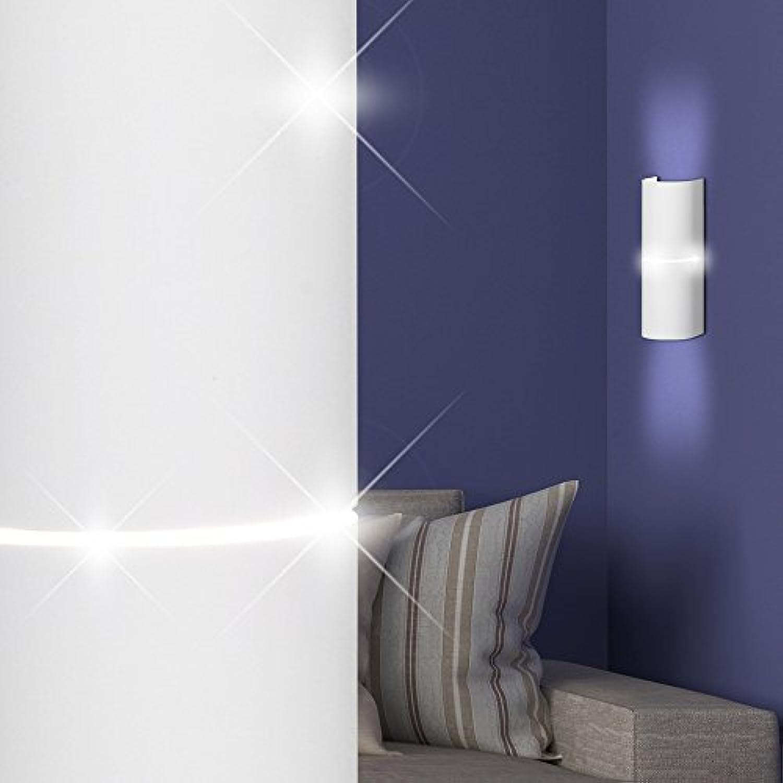 MIA Light Moderne Wandleuchte Up & Down aus Alu in wei
