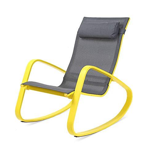 ZXQZ Schaukelstuhl, amerikanischer Schaukelstuhl für Erwachsene Liege Lazy Leisure Balkon Schaukelstuhl, Mittagspause Liegestühle (größe : 61.5 * 84 * 85CM)