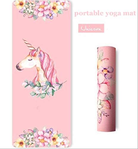 YJSHP Mit Fitness Yoga Matte 183 * 68 cm Tragbare rutschfeste Naturkautschuk Einhorn Yoga Matte...