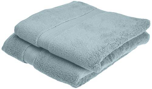 Pinzon - Juego de toallas de algodón Pima (2 toallas de mano), color azul claro