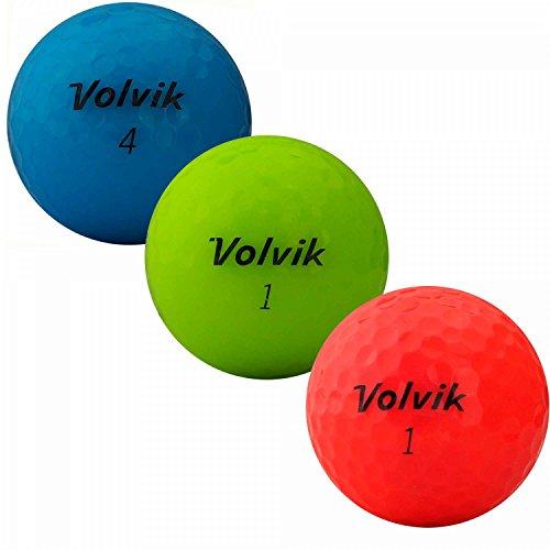 lbc-sports Volvik Crystal Distance 3pc Golfbälle - AAAA - AAA - bunt - Lakeballs - gebrauchte Golfbälle (36 Bälle)