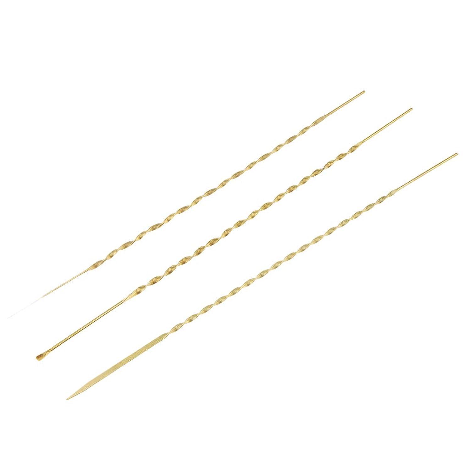 何でも磁器北米Baoblaze 3本 耳ピック 耳かき 耳ワックスリムーバー 高品質 金属製 3サイズ選べ - 17cm