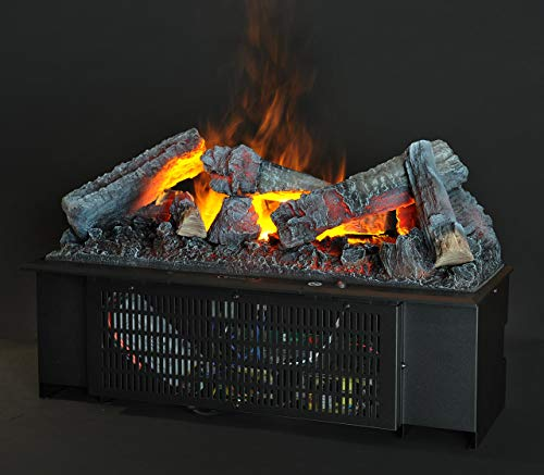 DIMPLEX Cassette 600 Built-in Fireplace Eléctrico Negro Interior – Chimenea (230 V, 50 Hz, 200 W, 200 W, 200 W, 556 mm)