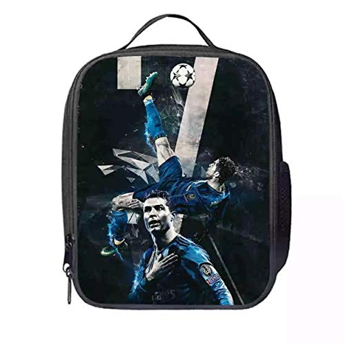 XCO-LEE Cristiano Ronaldo Insulated Lunch Bags-Kids Waterproof and Reusable Lunch Box for School