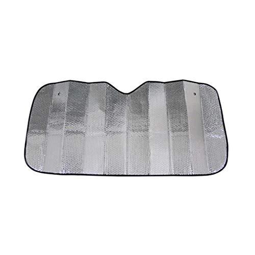Car Window zonneklep, 130-215CM Sunscreen Anti-UV zuignap eenvoudig te reinigen Zonnescherm dik materiaal Beschermende Silver Zonblok (Size : 140 * 70CM)
