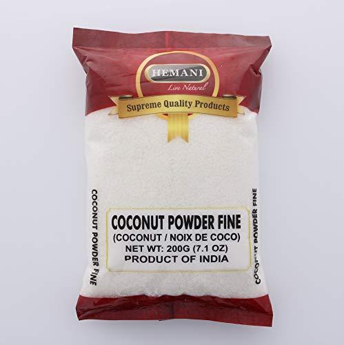 Hemani Coconut Powder Fine - Premium Coconut - Finely Shredded 200g (7.1 OZ) - All Natural - Supreme Quality – Gluten Free Ingredients - NON-GMO - Vegan - Indian Origin