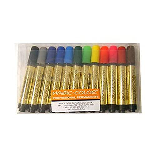 Estojo Magic Color 12 Cores Básicas 641