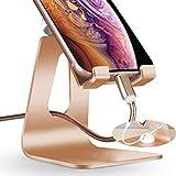 i-Tronixs (Gold 001 - Supporto per Telefono Cellulare, Regolabile, in Lega di Alluminio, Compatibile con QMobile QNote