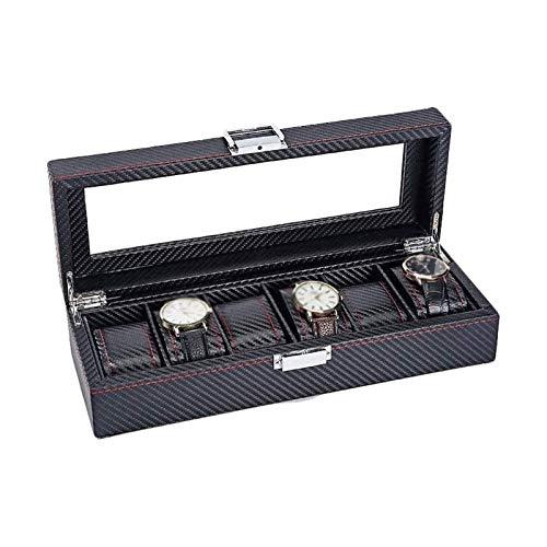 WHZG Caja joyero Caja de Reloj de Almacenamiento de joyería de Almacenamiento Caja de Reloj portátil Caja de Cremallera de Viaje colector Organizador Joyas
