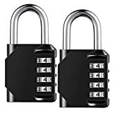 Combination Lock Resettable 4-Digit Padlock with Combination, AIHYTU Waterproof and Heavy Duty Combination Padlock Outdoor for School Gym Locker, Fence Gate, Toolbox, Employee Hasp Locker – 2 Pack