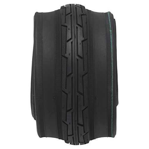 """BELL Flat Defense Road Bike Tire, 27"""" x 1.25-1.25"""", Black"""