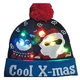Deckel Mütze Beanie Hut Kappe Cap Designs Led Weihnachtsmütze Pullover Gestrickt Beanie Christmas...