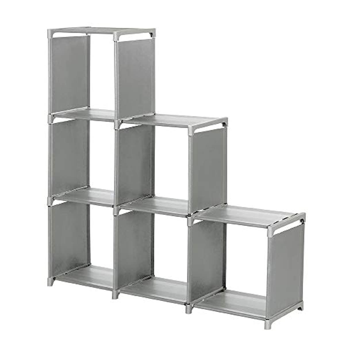 Eolgo Classic 3-Tier Storage Cube Closet Organizer Shelf 6-Cube Cabinet Bookcase (Grey, 40 x 31 x 28 cm)