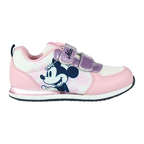 Cerdá Zapatillas Deportivas Niña Minnie Mouse con Luz, Niñas, Lila, 29 EU