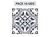Oedim Pack 10 Vinilos Adhesivos para Suelo Positano Azul y Rosa | Vinilo Ecológico | 30 x 30 cm | Autoadhesivos para Decorar o Renovar Suelo Mate, Suelos y Paredes