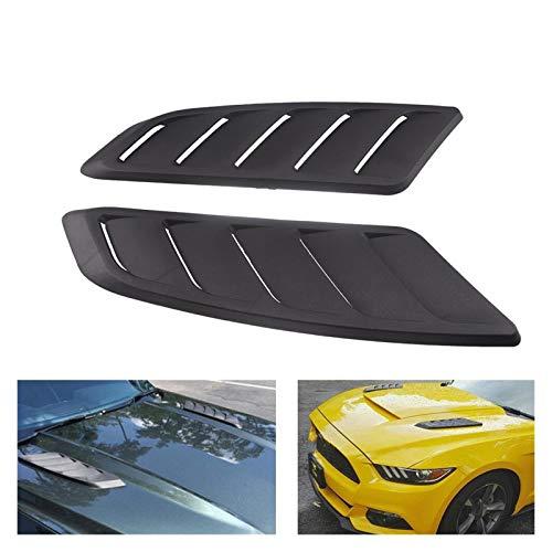 GIAOGIAO Ventilación de capó universal de plástico ABS de entrada de aire de coche, capó, campana de ventilación frontal, ajuste para Ford Mustang 2015-2017, 2 piezas, capó pala