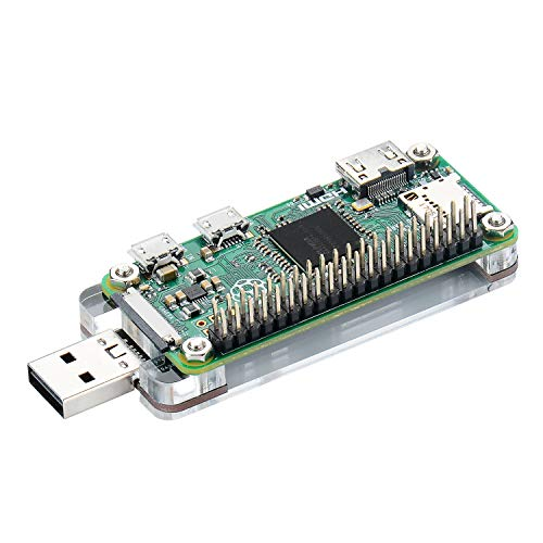 iuniker USB dongle expansion breakout module kit for Raspberry Pi Zero/W, both the front and back can be used.