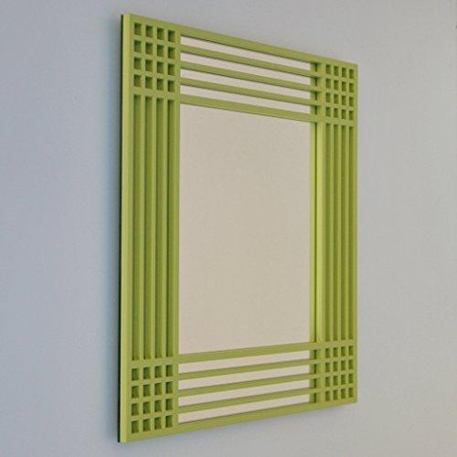 DECOHOGAR.SHOP Miroir Mural carré - Corners Cell Grand - 80 x 80 cm - Laqué Blanc