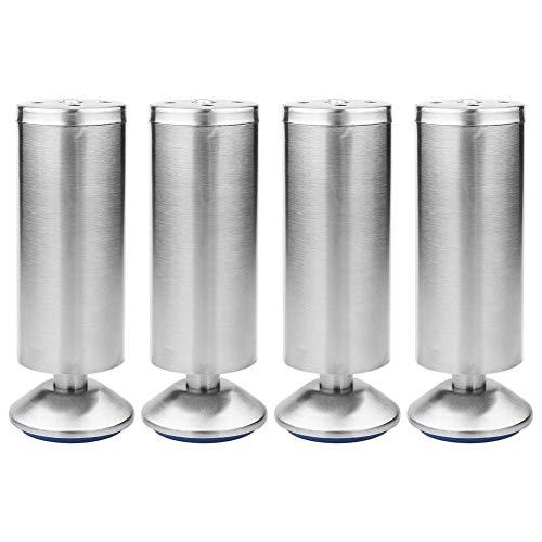 Gambe mobili in acciaio inossidabile 4 pezzi Gambe regolabili per la sostituzione del divano, Piedi dell'armadio dell'armadio Parti di ricambio fai-da-te(50 * 150MM)