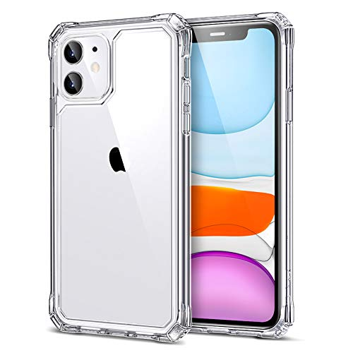 ESR Air Armor Compatible with iPhone 11 Case [Military Grade Drop Protection] [Shock-Absorbing] [Anti-Yellowing Hard Back] [Scratch Resistant], 6.1-Inch, Clear