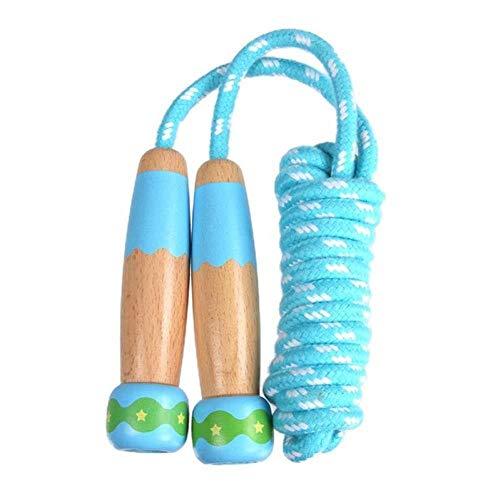 MAOX Corde à Sauter Corde de Sport réglable for Enfants en Bois for Corde à Sauter Maternelle Les élèves débutants Cartoon Animaux Style Corde Cadeau for Les Enfants (Color : Sky Blue)