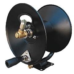 Solid Steel Construction Direct Handcrank Rewind Locking Mechanism Full Flow Swivel Joint Versatile Mounting Bracket