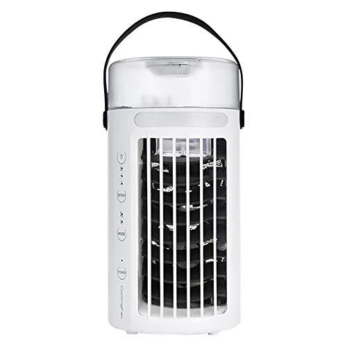 AIHOME Mini enfriador de aire, mini aire acondicionado portátil oficina hogar escritorio purificador purificador de aire humidificador escritorio ventilador de enfriamiento