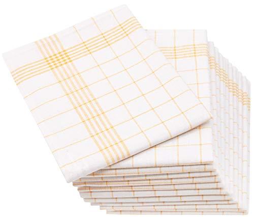 ZOLLNER 12 paños de Cocina Lino y algodón, 50x70 cm,