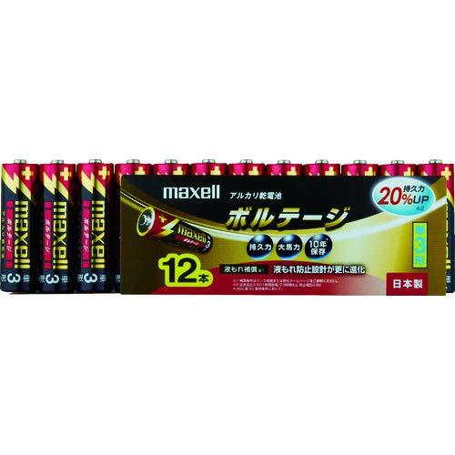 maxell アルカリ乾電池 「長持ちトリプルパワー&液漏れ防止設計」 ボルテージ 単3形 12本 シュリンクパック入 LR6(T) 12P