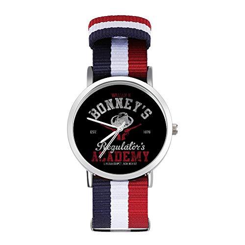 William H Bonneys Regulators Academy Young Guns Freizeit-Armbanduhr, geflochtene Uhr mit Skala