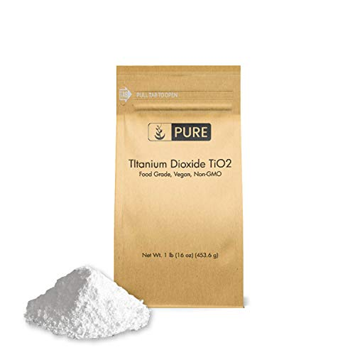Titanium Dioxide TiO2 (1 lb.)  Eco-Friendly Packaging  Naturally Occurring Mineral  pH Neutral