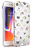 Hülle Warehouse Kawaii Sushi und Reis-Muster Slim Hülle kompatibel mit iPhone 6 TPU Schutz Light Phone Tasche mit Transparent Japanisch Lebensmittel Kawaii Karikatur