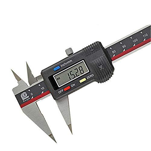 KCCCC Calibre Vernier 150 mm Vernier de Acero Inoxidable Vernier de Ajuste de precisión para medir (Color : Stainless Steel, Size : 0-300mm)