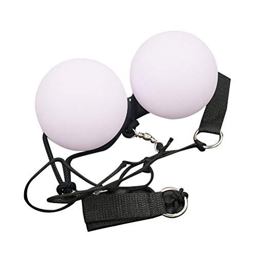 Healifty LED Poi Glow Nachtleuchtender Poi Leuchtpoi Glühende Kugel Jonglierbälle für Bauchtanz 2 Stück (Weiß)