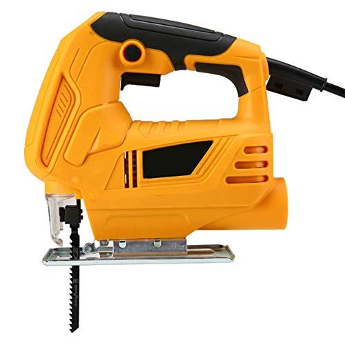XDXDO Jigsaw Saw Tool Compact 400W - Velocidades Variables, Protector de astillas, Puerto de extracción de Polvo y 4 Cuchillas