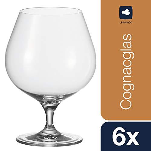 Leonardo Schwenker Cheers, Cognac-Glas mit gezogenem Stiel, elegante Weinbrand-Gläser mit 700-ml Füllmenge, 6-teilig, 061641