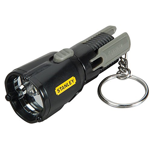 Stanley 0-95-113 Mini trépied trousseau LED lampe de poche, couleur peut varier (Pieds en plastique ou en finition chromée)