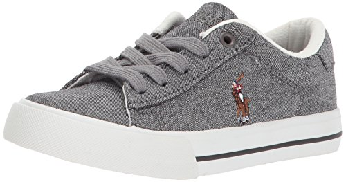 professional Polo Ralph Lauren Rudlens Easton II Unisex Sneakers, Chambray Gray, 13 Medium US Little Kid