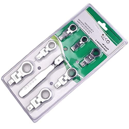 Youlin 72 Gear Shaking Head Juego de llaves de trinquete portátiles intercambables Llave combinada giratoria de 180 ° Llave de trinquete intercambiable extraíble antideslizante