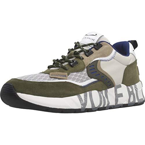 Sneakers Hombres VOILE BLANCHE 1F26 Clubo1 Bosco Grigio Gamuza Verde