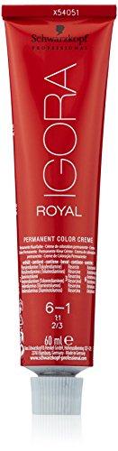 Schwarzkopf IGORA Royal Premium haarkleur 6-1 donkerblond cendré, per stuk verpakt (1 x 60 g)